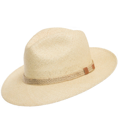 Natural with Braided Jute Rope Hatband