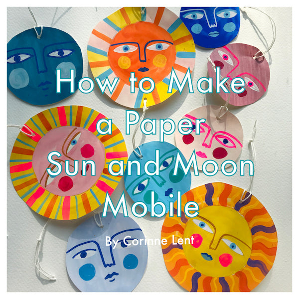 Wednesday Project: Paper Sun + Moon Mobile by Corinne Lent!