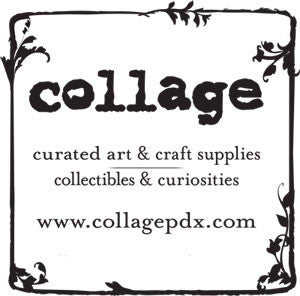 collage art and craft supplies logo