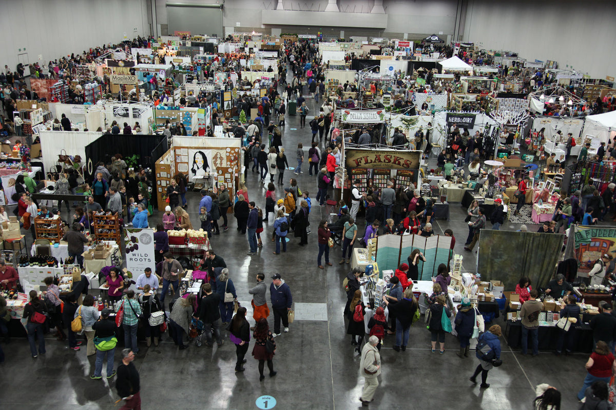 Crafty Wonderland Art + Craft Market overhead view