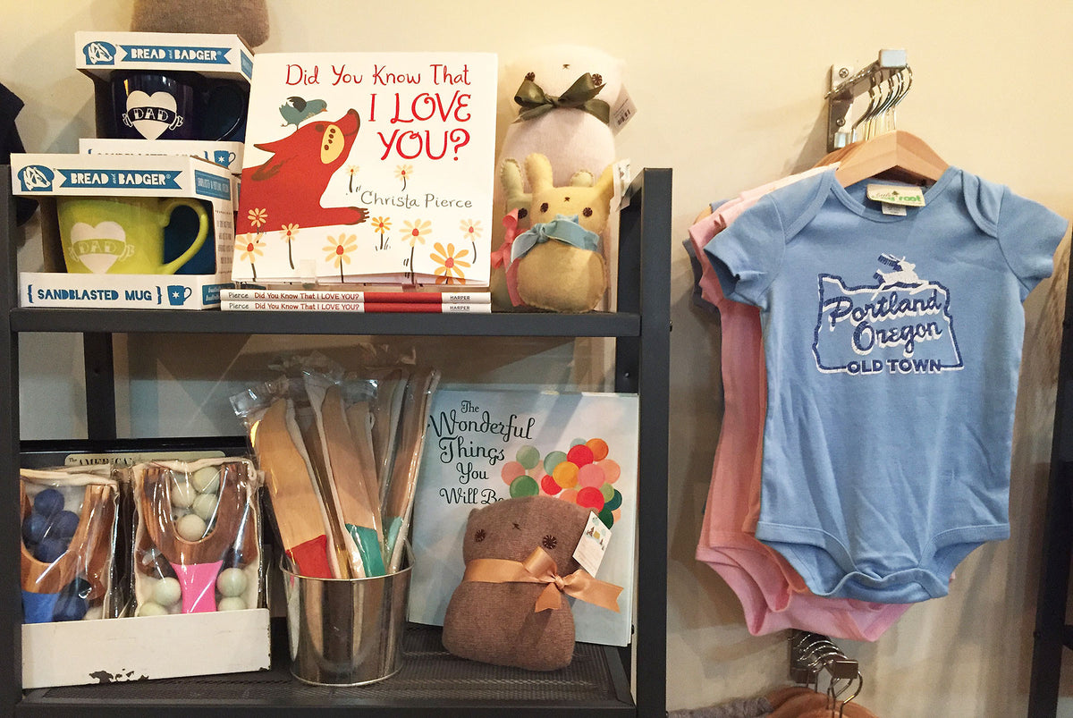Craft Wonderland retail store baby and kid gift section