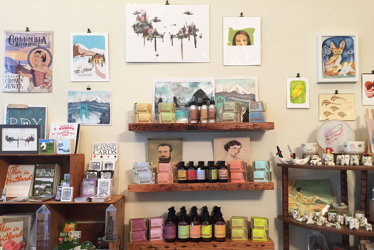 Crafty Wonderland retail store body care and Portland souvenirs