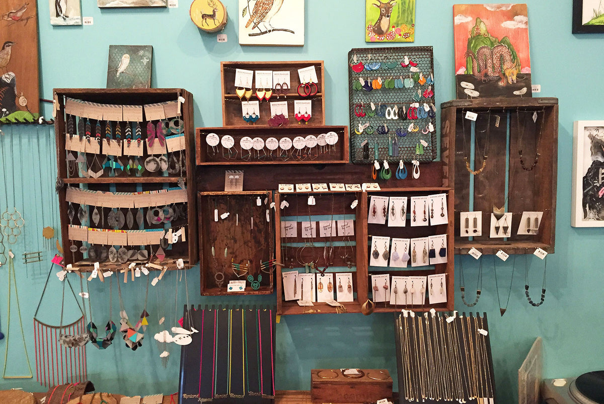 Crafty Wonderland shop jewelry section