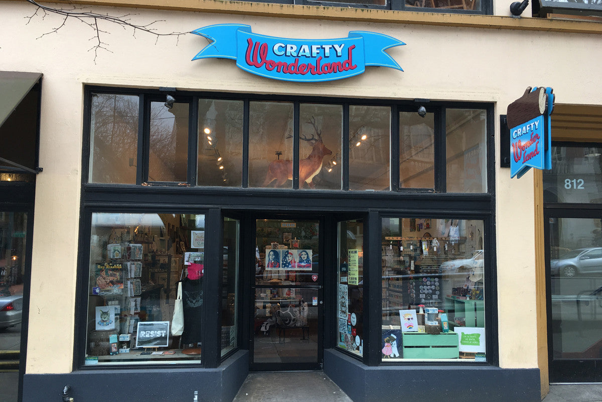 Crafty Wonderland brick and mortar store outside