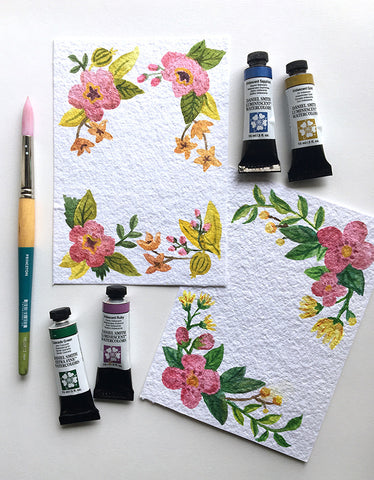 collage watercolor supplies