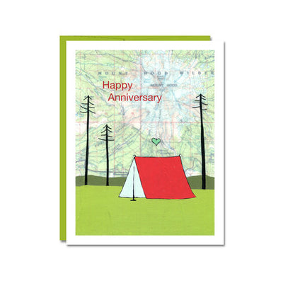 Happy Anniversary Camping Card