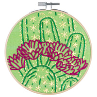 Blooming Cactus Embroidery Kit
