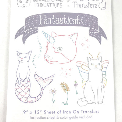 Fantasticats Iron-On Embroidery Transfers