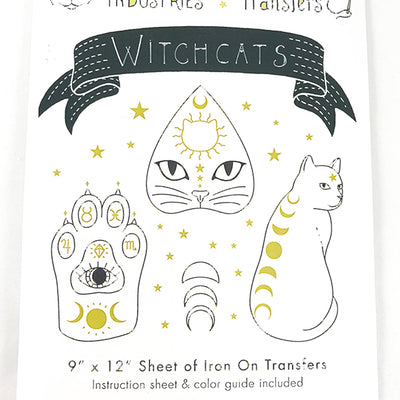 Witchcats Iron-On Embroidery Transfers