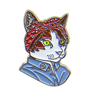 Feminist Cat Enamel Pin