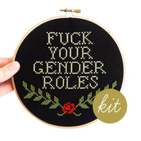 Gender Roles Cross Stitch Kit