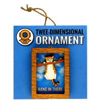 Hang In There Cat Magnet or Ornament