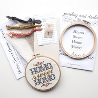 Homo Sweet Homo Cross Stitch Kit