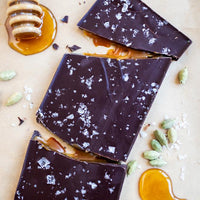 Cardamom Honey Caramel Chocolate Bar