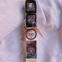 Box of Dark Chocolate Covered Caramels - 6 pieces