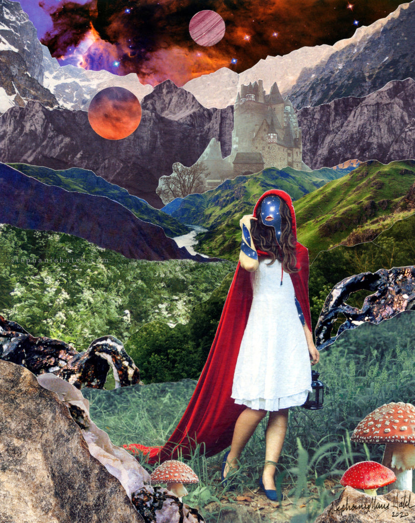 Long Way From Home Collage Print