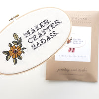 Maker Crafter Badass Cross Stitch Kit