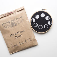 Moon Phases Cross Stitch Kit