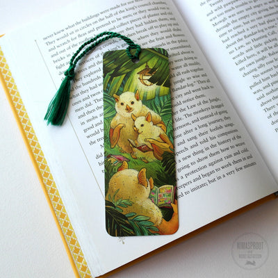 Bats Reading Bookmark
