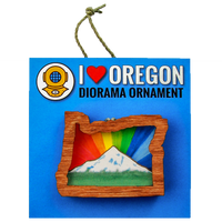 Rainbow Mt. Hood Oregon Magnet or Ornament