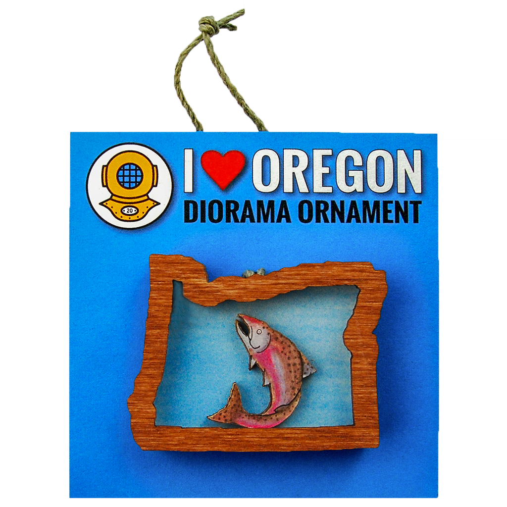 Salmon Oregon Ornament
