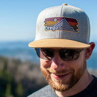 Oregon Horizons Trucker Hat - Ginger and Gray