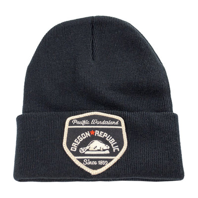 Oregon republic black beanie