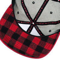 Oregon Republic trucker hat inside plaid
