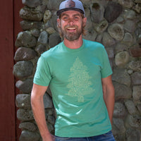 Oregon word tree men's tee