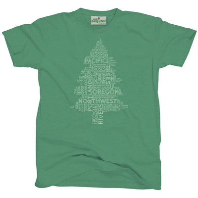 Oregon word tree t-shirt
