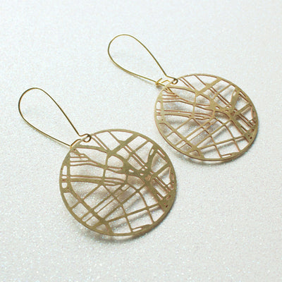 Portland map earrings