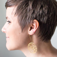 laser cut Portland map earrings