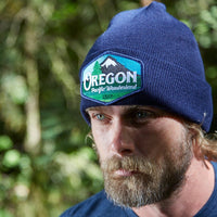 Oregon pacific wonderland navy knit beanie