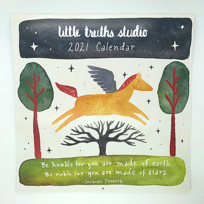 Little Truths Studio 2021 Wall Calendar
