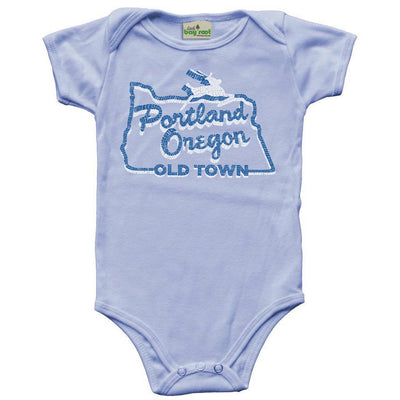 portland oregon stag sign baby shirt