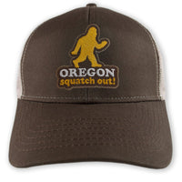 Squatch Out Oregon Sasquatch trucker hat