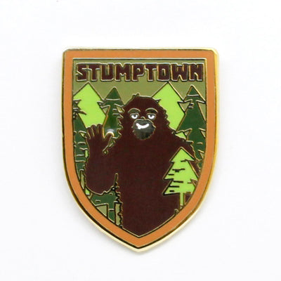 Stumptown Sasquatch Enamel Pin
