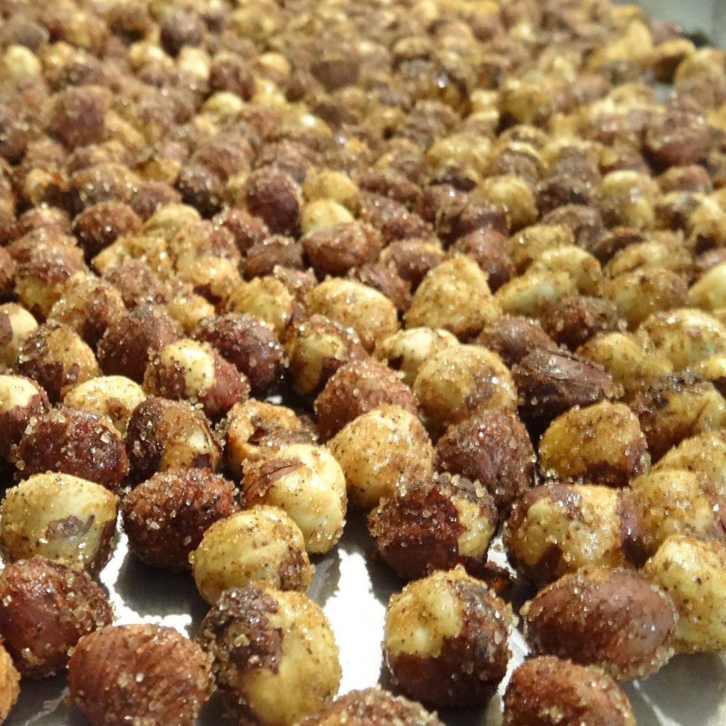 Sweet + Salty Hazelnuts