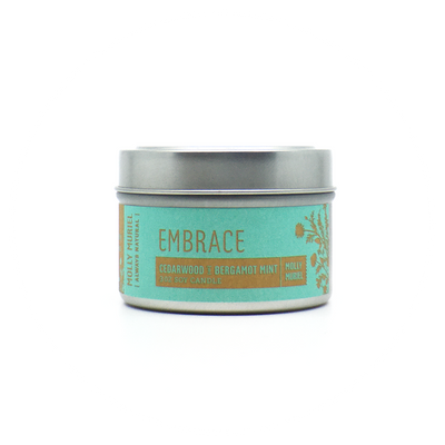 Embrace Cedarwood + Bergamont Mint Travel Candle