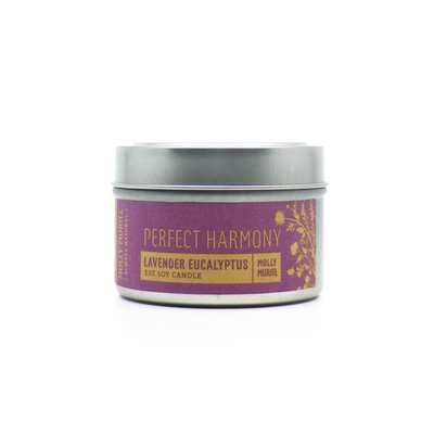 Perfect Harmony Lavender Eucalyptus Travel Candle