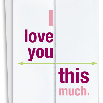 I Love You This Much Fold Out Card