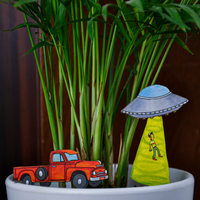 UFO Abduction Plant Diorama Kit