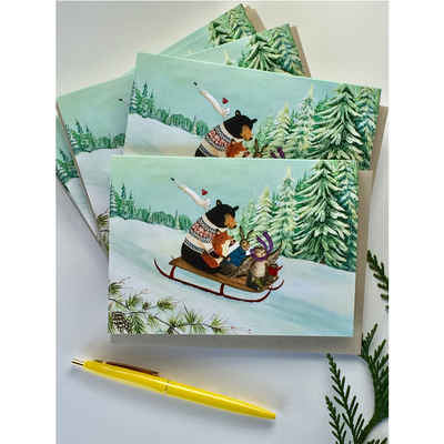Wintry Tantivy Cards - Set of 12