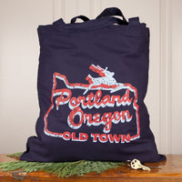 White Stag Sign Portland tote bag