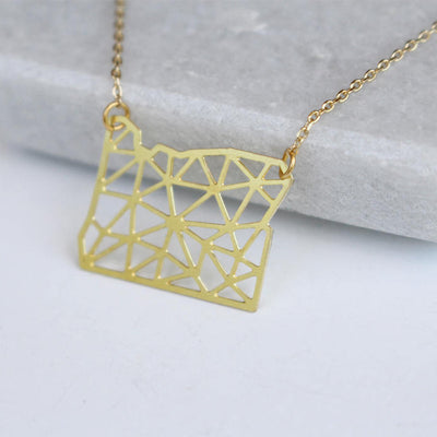 A Tea Leaf Oregon geometric necklace
