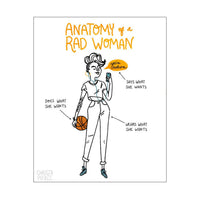 Anatomy of a Rad Woman Print