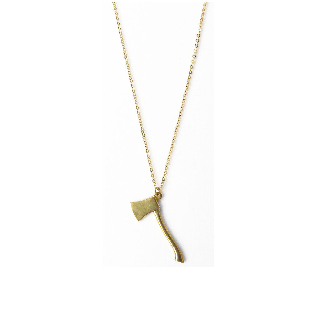Golden Ax Necklace