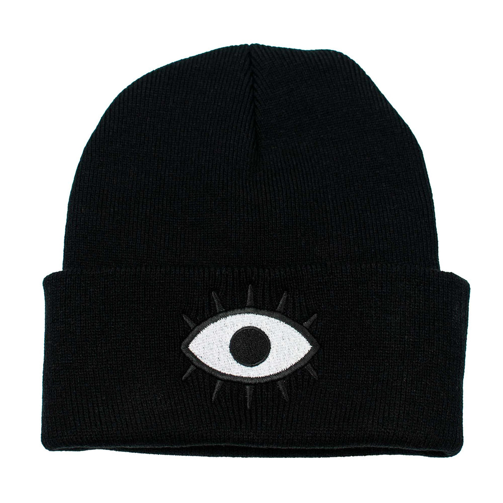 Wokeface third eye beanie - black