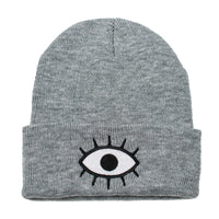 Wokeface third eye beanie - gray