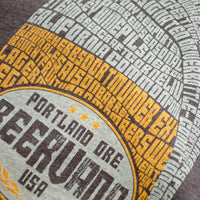 close up of Beervana t-shirt